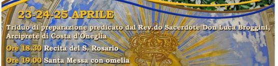 Programma Religioso festa della Madonna delle Grazie 2015