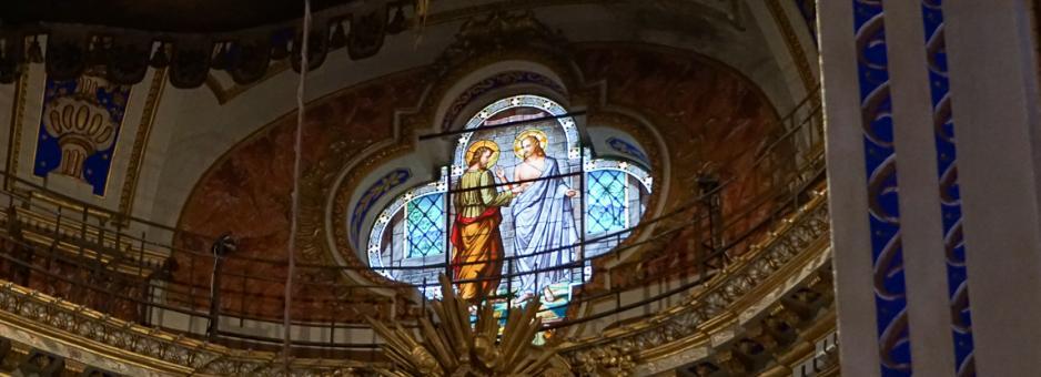 Vetrata S. Tommaso - Altare maggiore